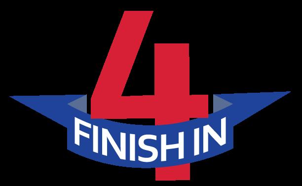 finish in four logo